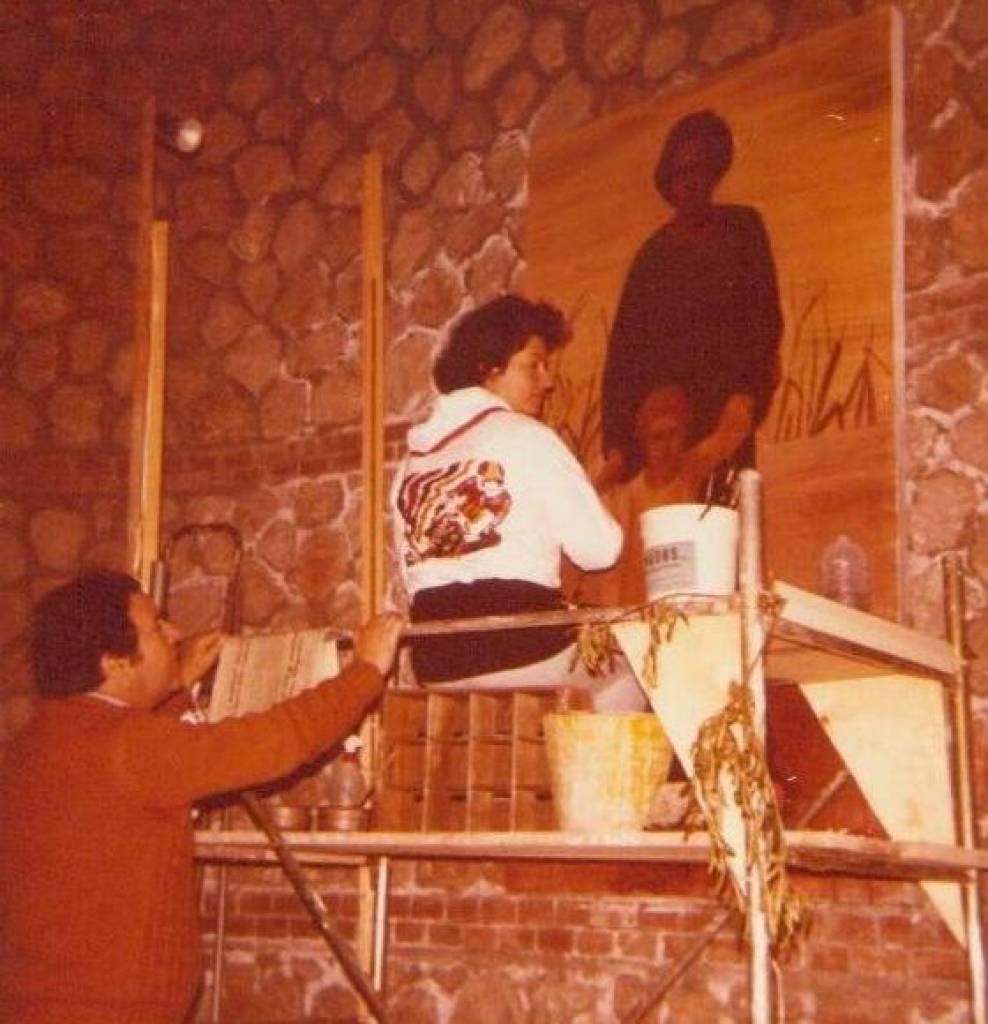 """Affresco la """"Madonna del Padule"""" con il pittore maestro livornese Ferruccio Mataresi"""