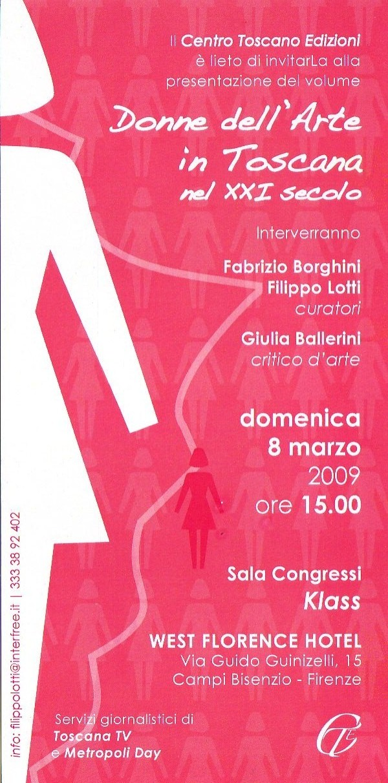 Donne dell arte in Toscana di Tommaso Paloscia
