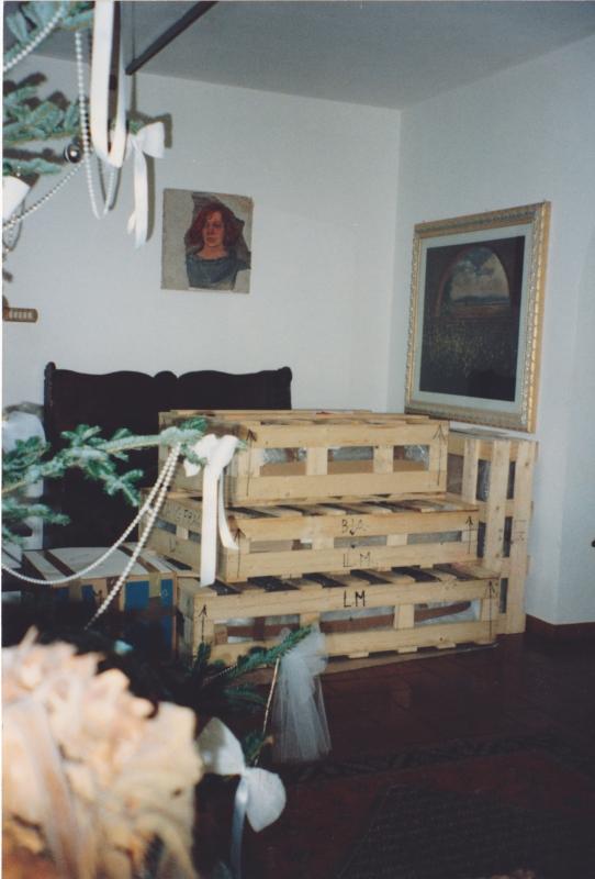 La Cassa delle MIE opere pronta per l'esposizione all Museo della BMW, Monaco di Baviera
