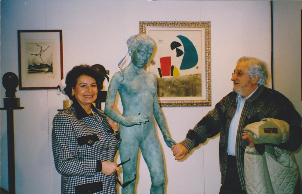 """Pers. alla Galleria """"Arte Capital"""" Arte Fiera Bologna, con Elio Marchegiani"""