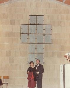La Via Crucis, chiesa della SS.Assunta, Cellere con mio marito