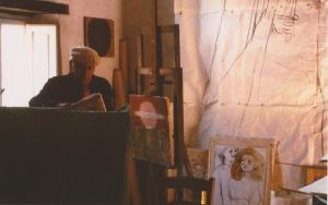 Saetti nello studio di Montepiano NEL PERIODO IN CUI ERO ASSISTENTE AGLI AFFRESCHI STRAPPATI