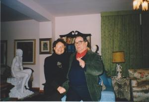 Il grande Amnon Barzel nel mio studio a Villa Sugherella
