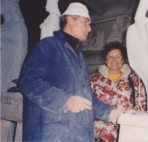 con Giuliano  Vangi, Petrasanta