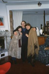 nel mio studio di Villa Sugherella con Amnon  Barzel e Rivka Rinn. GR