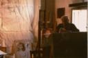 Saetti nel suo Studio durante il periodo in cui sono stata sua assistente agli affreschi staccati