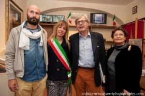 Con Vittorio Sgarbi Il Sindaco Monuca Marini e l'ass. Carlo Boni